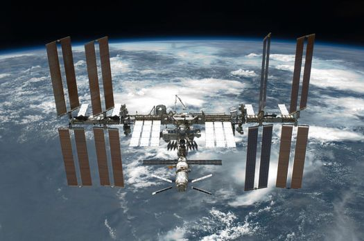 he International Space Station, an engineering wonder whose shape can be modelled by classical Euclidean geometry. Such regular shapes are extremely rare in nature.(Wikimedia Commons)